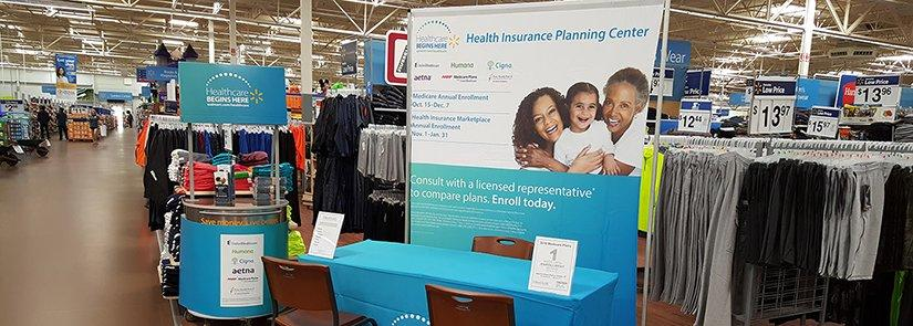 Health Insurance Booth at a local Walmart store